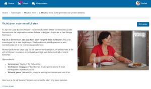 Online training mindful eten
