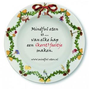 kerst  mindful eten